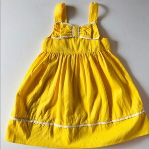 NWT yellow bow dress